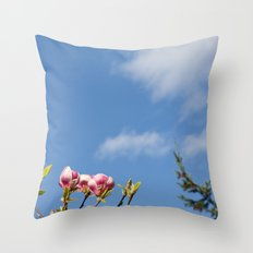 Sky flowers Throw Pillow