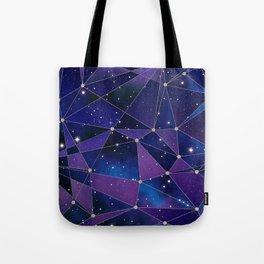 Interstellar Network Pattern Tote Bag
