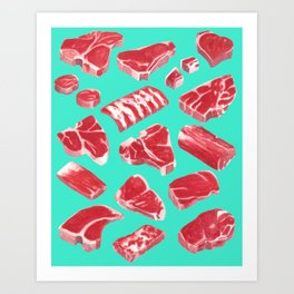MEAT MARKET, by Frank-Joseph Art Print