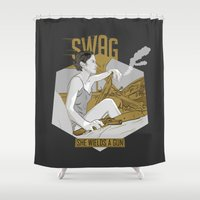 swag Shower Curtains featuring SWAG by RJ Artworks