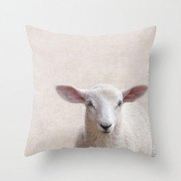 Lamb Portrait Throw Pillow
