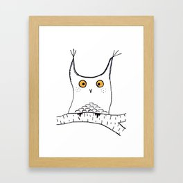 Squarish Owl Framed Art Print