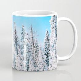 Snow covered evergreens Coffee Mug