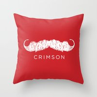 butcher billy Throw Pillows featuring Crimson Butcher by Jason Rutherford