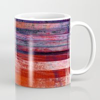flag Mugs featuring Flag by DAVID BIRKBECK