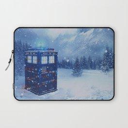 Tardis in Winterland Laptop Sleeve