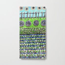 High Garden Pattern with Fence Metal Print