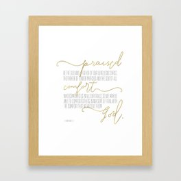 2 Corinthians 1:3,4 - Goldie Framed Art Print