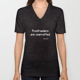 Proofreaders (Black) Unisex V-Neck