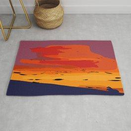 Orange Hillside Sunset Rug