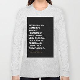 "John Newton ""Two Things I Remember"" Amazing Grace Long Sleeve T-shirt"