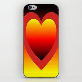 Golden red gradient hearts  iPhone Skin