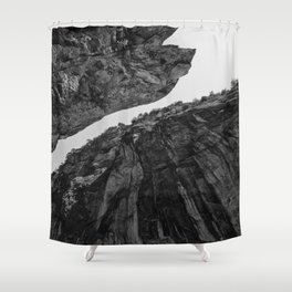 up from abyss Shower Curtain