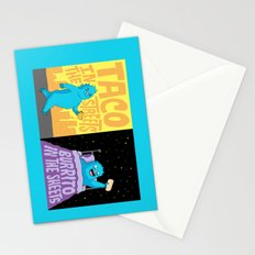 Taco in the streets, Burrito in the sheets. Stationery Cards