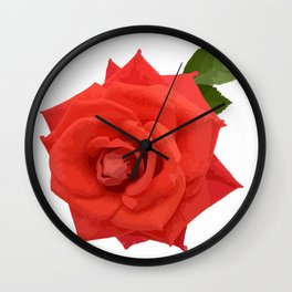 Single red rose Wall Clock