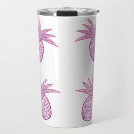 UrbanNesian Purple & Magenta Fineapple Travel Mug
