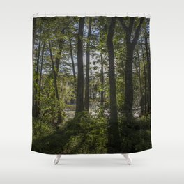 back of the monroe bayou Shower Curtain