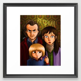 American Family Portrait (Redrum) Framed Art Print