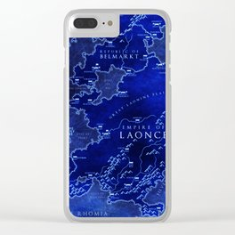 map blue Clear iPhone Case