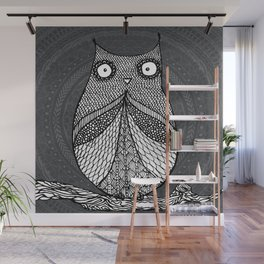 Doodle Owl Wall Mural