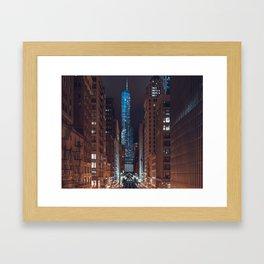 Skyscraper in Chicago Framed Art Print