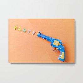 colorful party revolver toy gun Metal Print