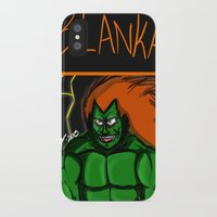 street fighter iPhone & iPod Cases featuring Street Fighter: Blanka by LaDarius Livingston