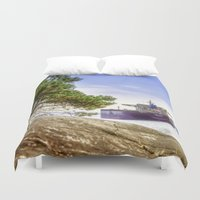 ohio Duvet Covers featuring UBC Ohio by August Landscapes