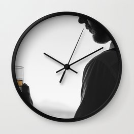 Gentleman with Scotch Wall Clock