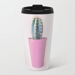 Single Cactus Pot in soft pastel Colors Travel Mug
