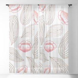 Romantic Botanical Sheer Curtain