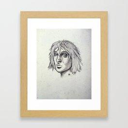 Cobain of the Rocks Framed Art Print