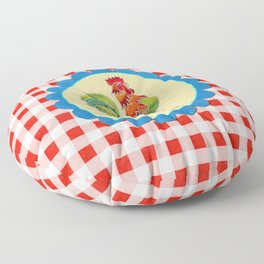 Rise and Shine Rooster Floor Pillow
