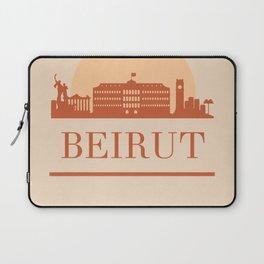 BEIRUT LEBANON CITY SKYLINE EARTH TONES Laptop Sleeve