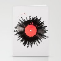 vinyl Stationery Cards featuring The vinyl of my life by Robert Farkas