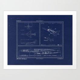 Republic AP 57 Blueprint Schematic Art Print
