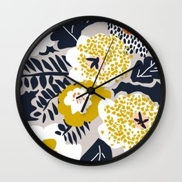 Scandinavian flowers greet you Wall Clock
