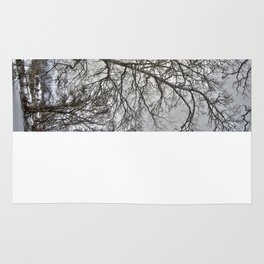Snow Trees Rug