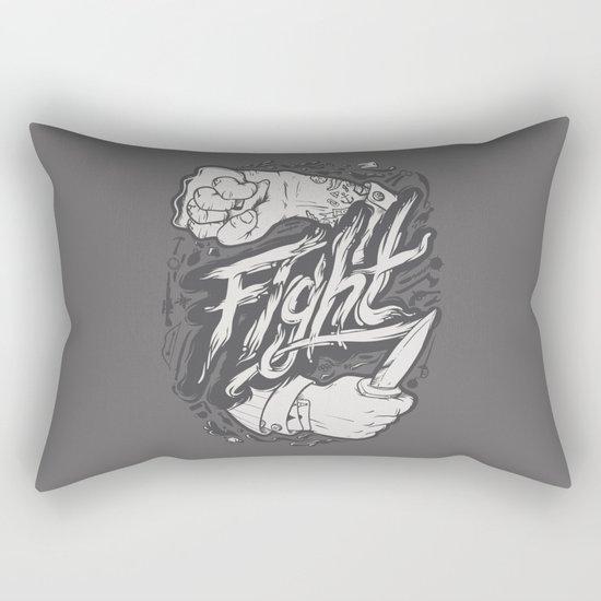 The Fight Rectangular Pillow