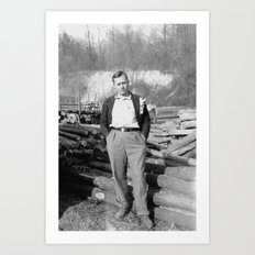 Logging Foreman Art Print