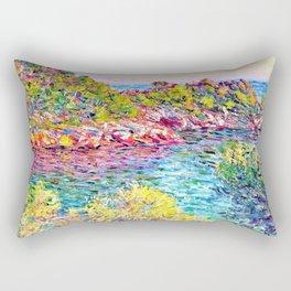 Landscape near Montecarlo - Claude Monet Rectangular Pillow