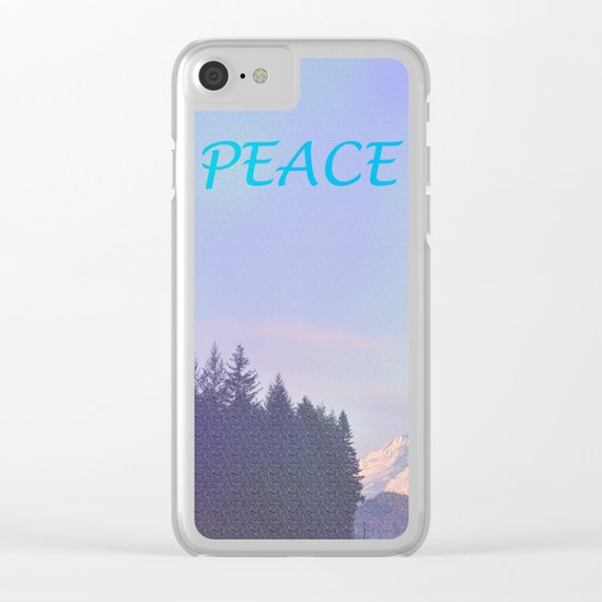 PEACE ON MOUNT HOOD Clear iPhone Case