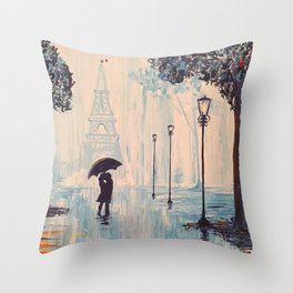 Last Night In Paris  Throw Pillow