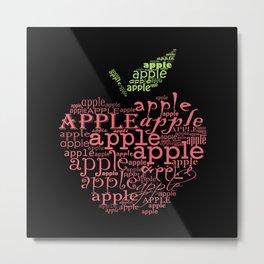 Typographic apple Metal Print