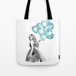 Balloons Turquoise  Tote Bag