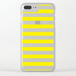 Horizontal Yellow Stripes Clear iPhone Case