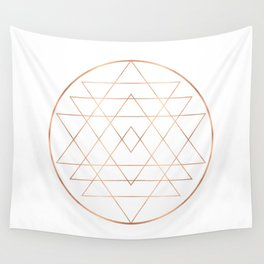 Dream All, All Dream - Rose Gold Copper Wall Tapestry