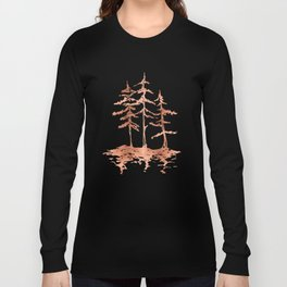 THE THREE SISTERS Trees Rose Gold Long Sleeve T-shirt