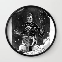 punisher Wall Clocks featuring Frank Castle Punisher by alex m clark