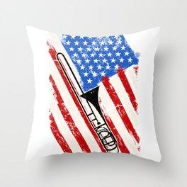 Trombone America Throw Pillow